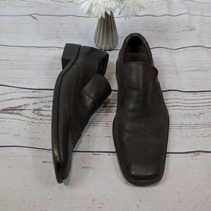Steve Madden Brown P-Frank Leather Slip-ons SZ 9.5